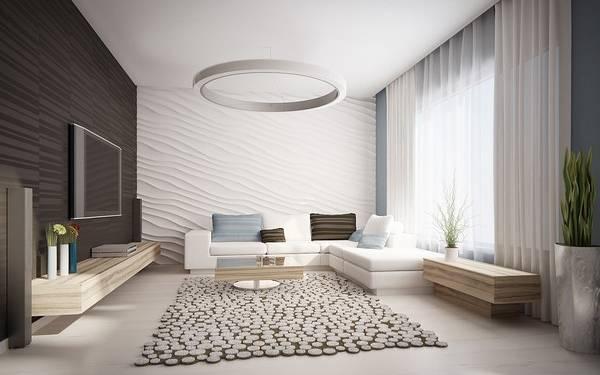 Современный минималистский дизайн интерьера частного дома