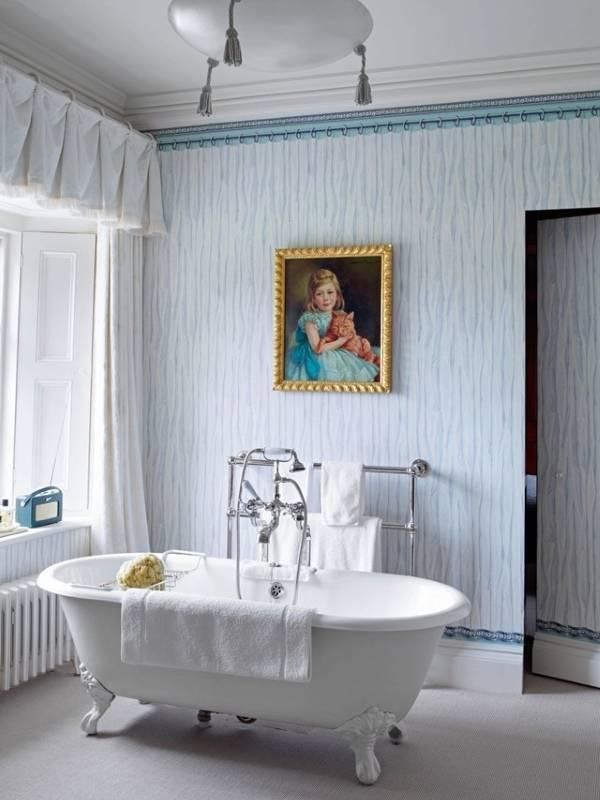 Внутренний дизайн загородного дома - ванная комната