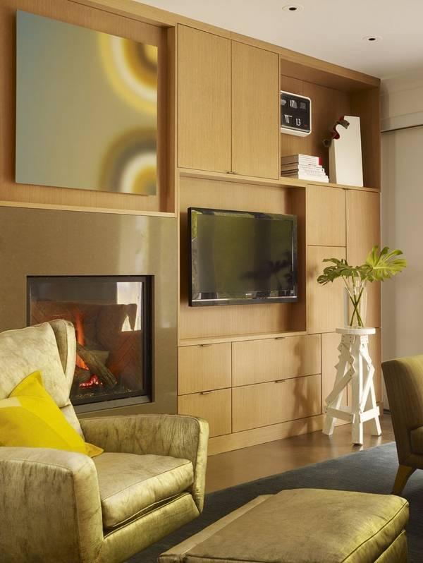 Встроенная стенка для гостиной