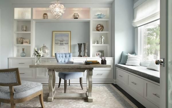 Встроенная мебель в дизайне домашнего офиса