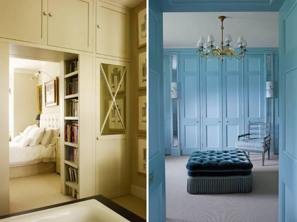 Встроенные шкафы в дизайне частного дома