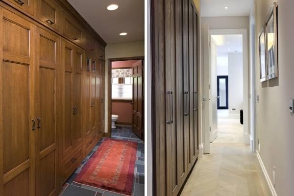 Встраиваемая мебель шкафы в прихожей и коридоре