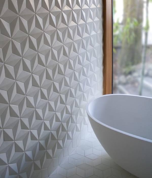 Модная 3d плитка для ванной комнаты 2015