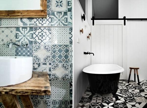 Необычная отделка ванной комнаты плиткой фото дизайн