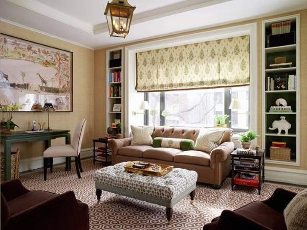 Современный стиль в интерьере маленькой гостиной