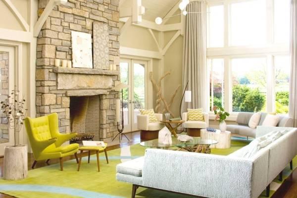 Красивый интерьер гостиной - фото в современном стиле