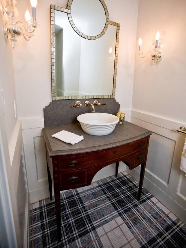 Плитка в ванной фото дизайн в клетку