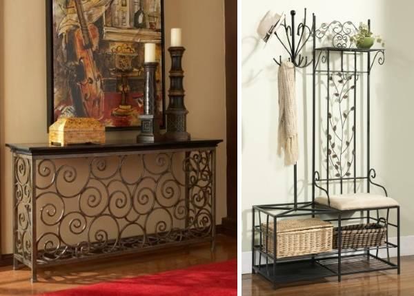 Кованая мебель для прихожей в стиле модерн