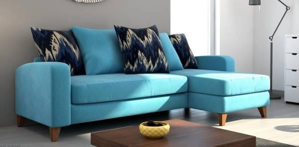 Маленький угловой диван фото в синем цвете