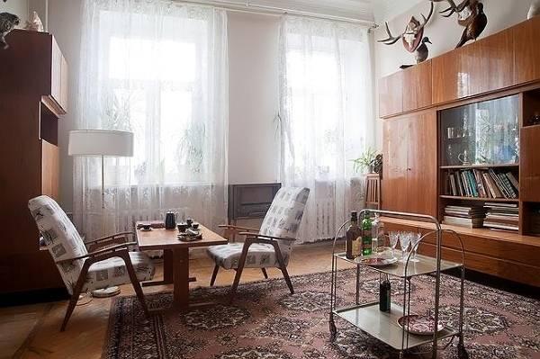 Дизайн и мебель в стиле минимализма Советского Союза