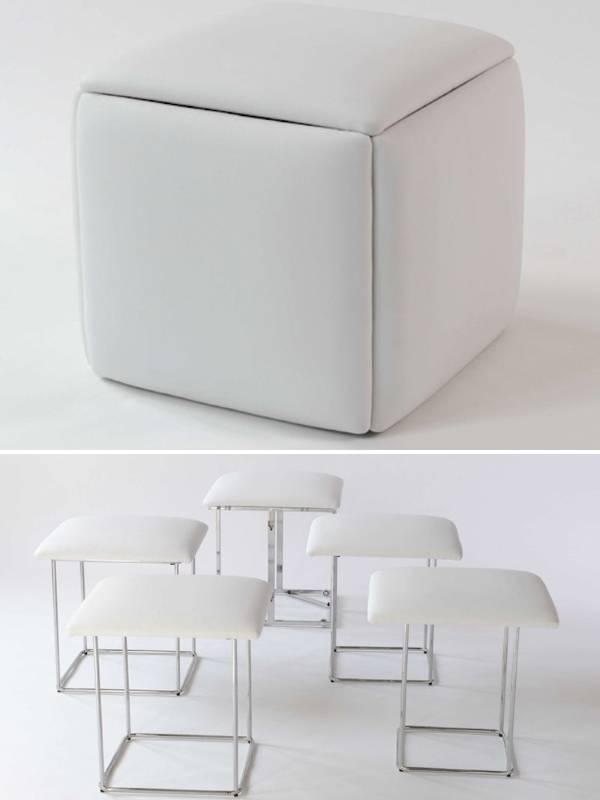 Стол трансформер в набор стульев