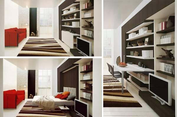 Шкаф кровать и стол трансформер LGM Tavolo