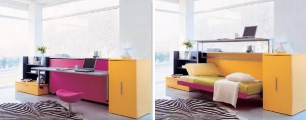 Откидная кровать трансформер для детской комнаты