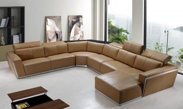 Угловая мягкая мебель для гостиной - фото углового дивана