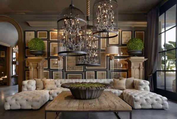 Необычный эксклюзивный интерьер в современном стиле - фото гостиной