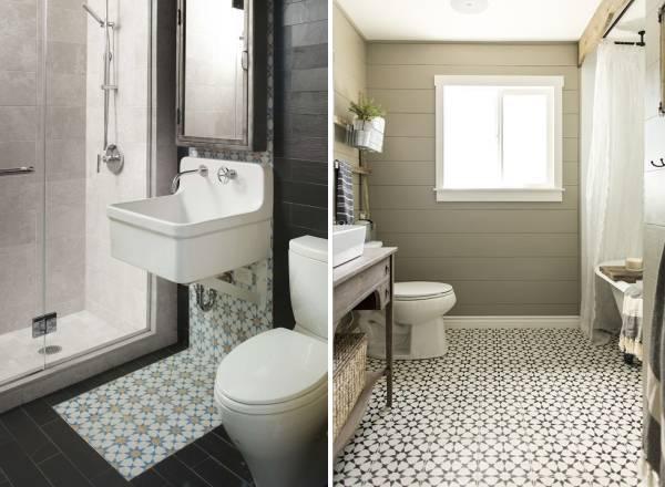 Керамическая плитка для ванной с ярким узором