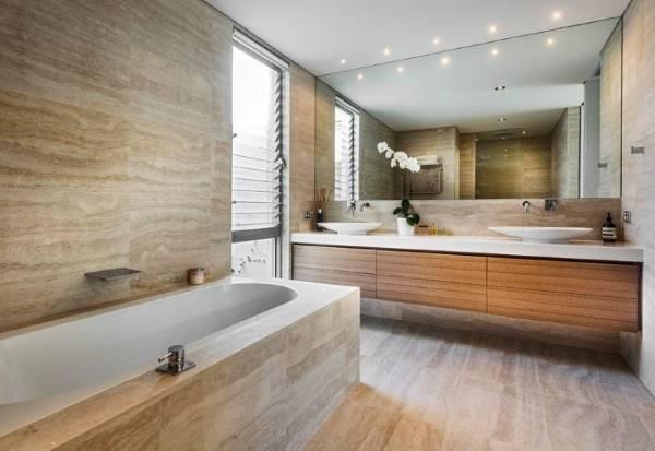 Керамическая плитка для ванной под камень
