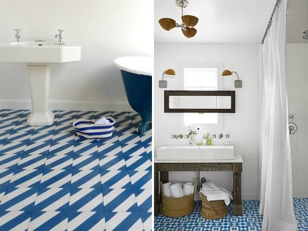 Модная плитка для ванной 2015: геометрические рисунки
