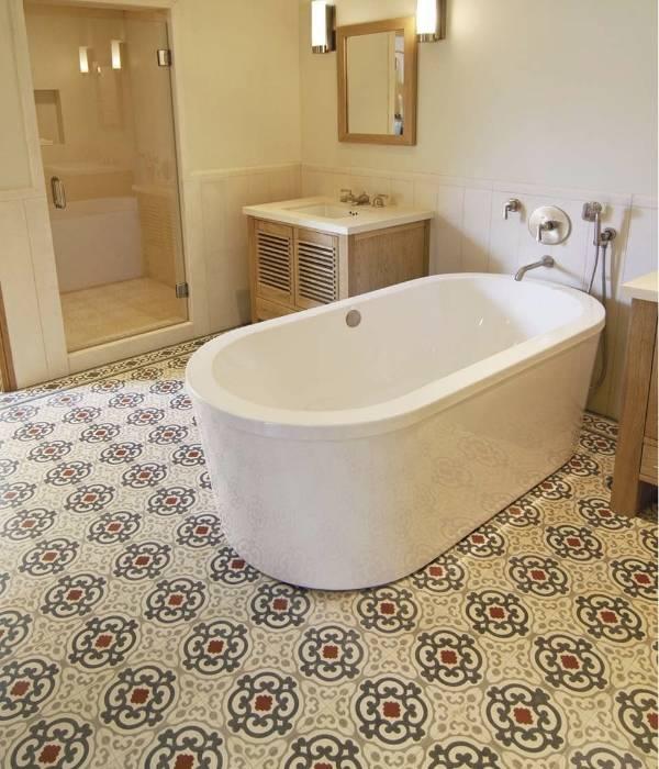 Плитка для ванной комнаты со старинными мотивами