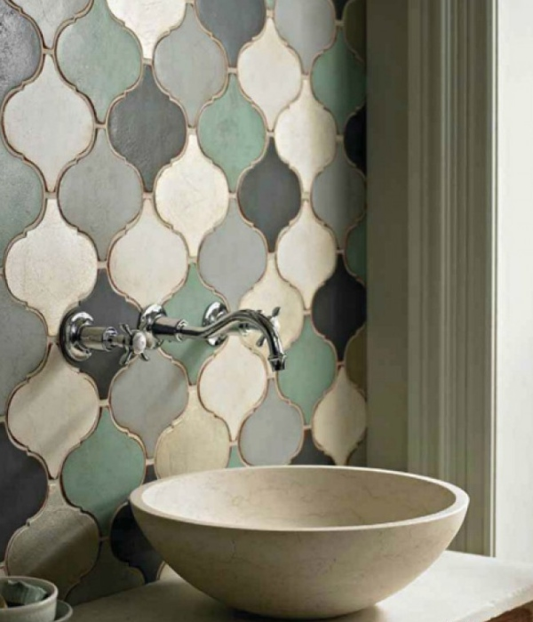 Марокканский дизайн плитки в ванной