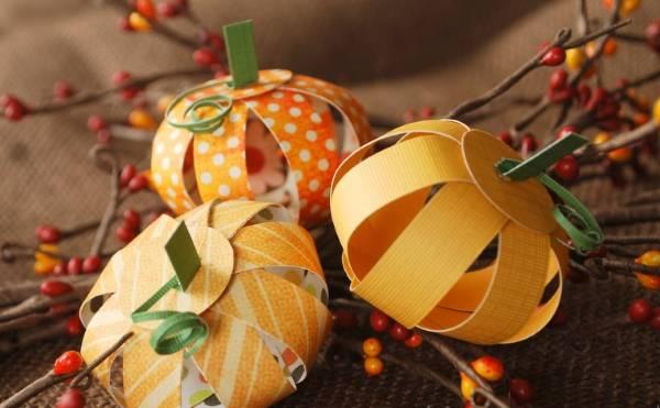 Осенний декор из бумаги на Хэллоуинн