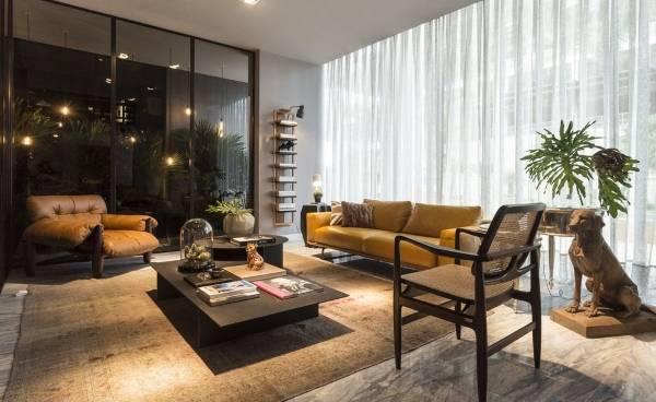 Роскошный современный дизайн гостиной