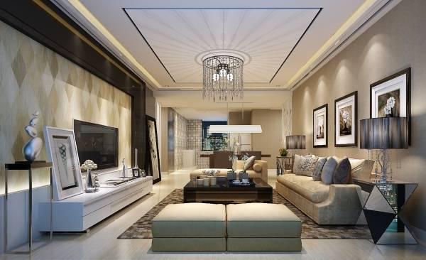 Современная гостиная в стиле luxury