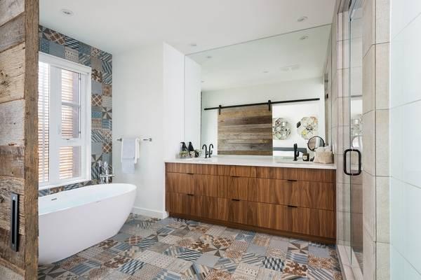 Пэчворк плитка в ванную комнату фото