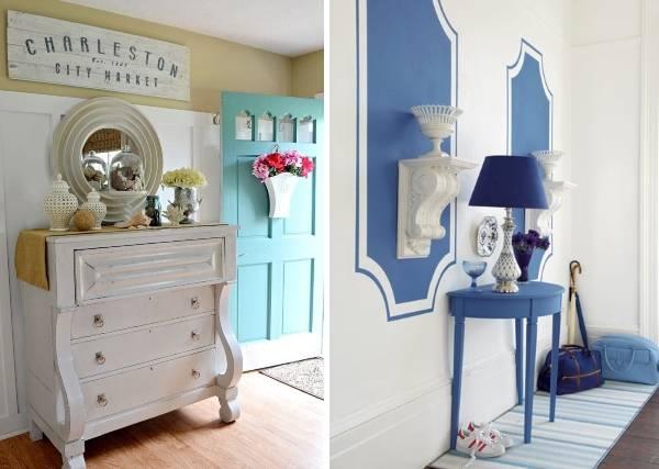 Голубая и синяя прихожая в стиле прованс фото