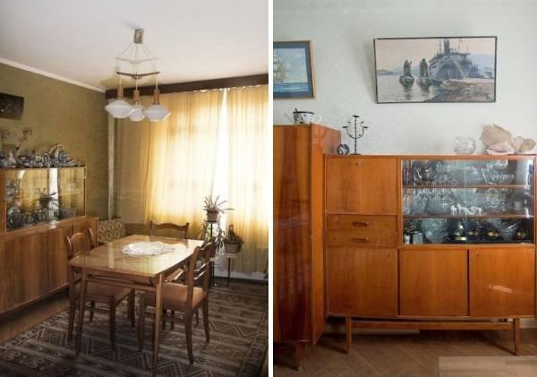 Советская мебель для гостиной 50-70-х годов