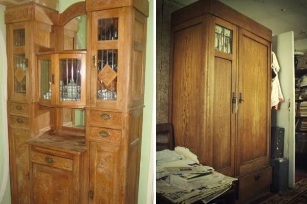Советский буфет и шкаф для одежды 20-30-х годов