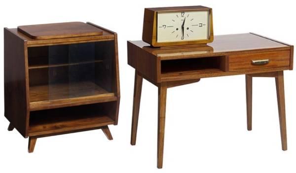 Советский стол и тумба в стиле минимализм