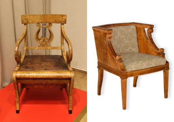Советская мебель 30-х годов: кресла