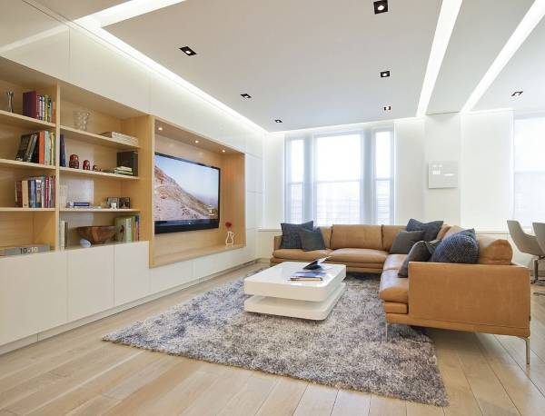 Фото интерьер гостиной в современном стиле