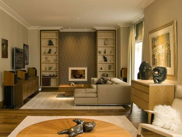 Фото гостиной в интерьере гостиной в современном стиле