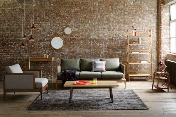 Лофт интерьер гостиной - фото в современном стиле