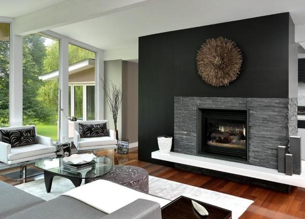 Черно-белый интерьер в современном стиле