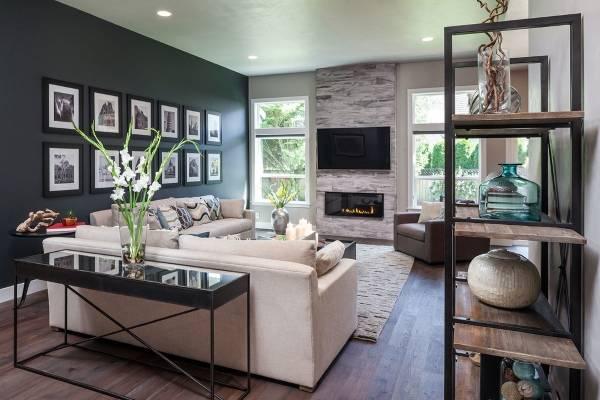 Простая мебель для гостиной в современном стиле