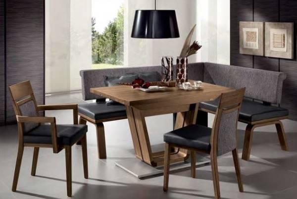 Угловая мягкая мебель для зала - фото обеденного гарнитура