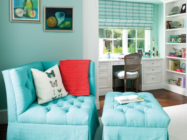 Угловое кресло - фото в интерьере