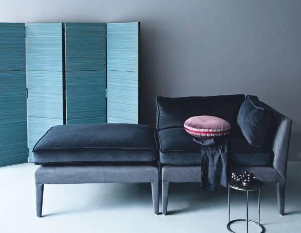Угловая мягкая мебель для зала - фото углового кресла