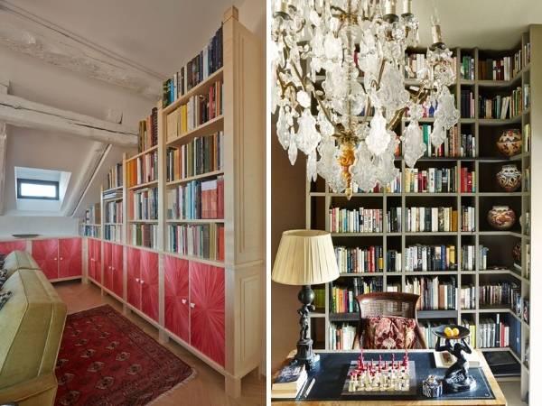 Книжный шкаф для угла комнаты