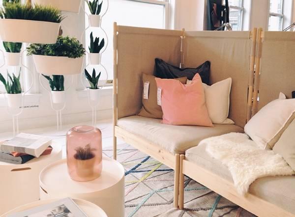 Угловая мягкая мебель для гостиной - фото кресел IKEA