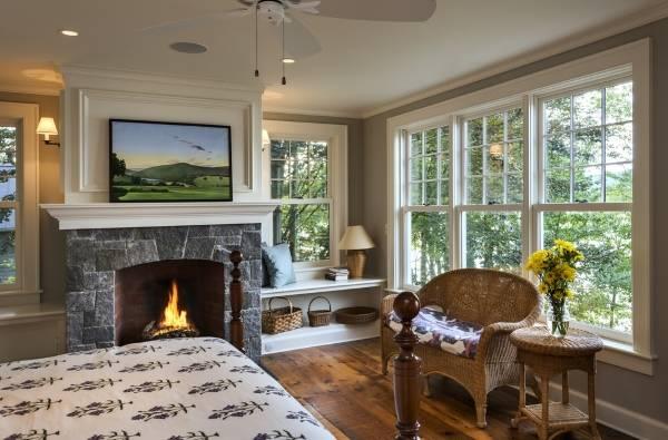 Окна ПВХ - фото спальни в частном доме