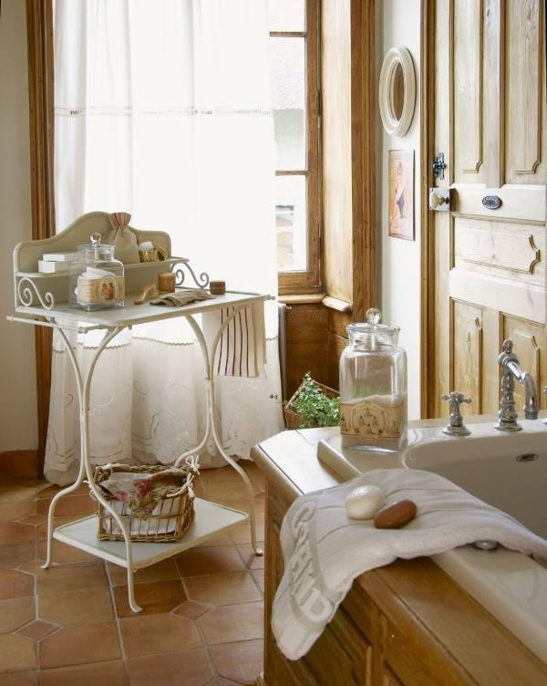 Декор и аксессуары для ванной комнаты в стиле прованс