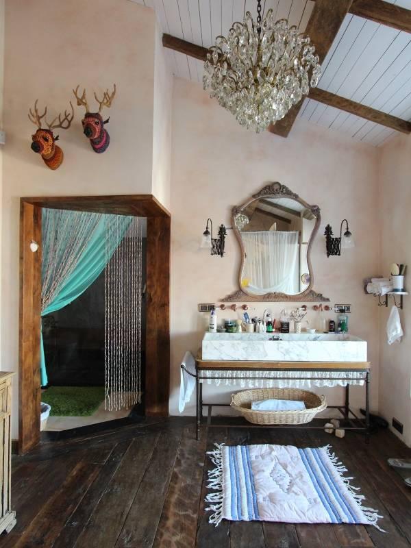 Деревенские аксессуары для ванной в стиле прованс