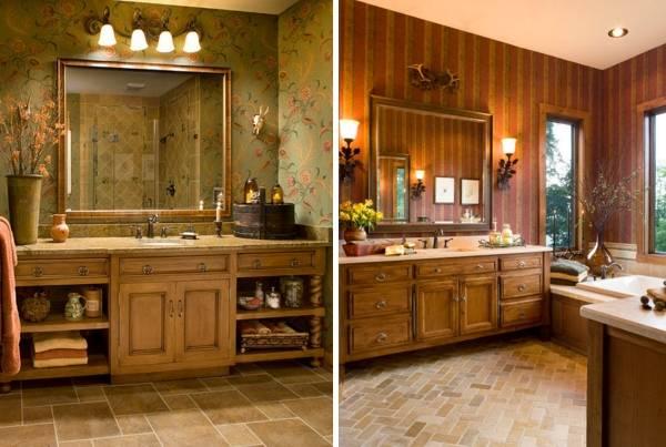 Деревянная мебель для ванной прованс
