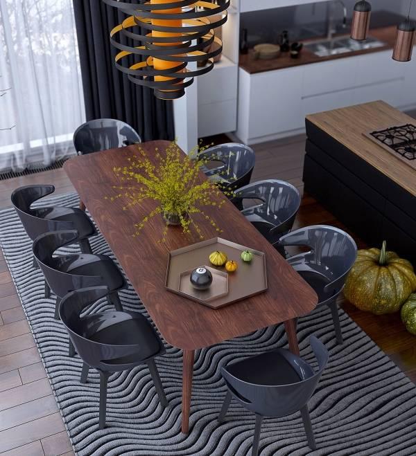 Выбираем обеденные столы и стулья для кухни фото