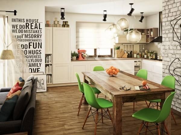 Кухонные обеденные столы из дерева