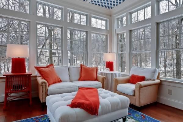 Энергосберегающие окна - фото гостиной